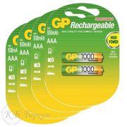 "Комплект (8 шт. ""ААA"") аккумуляторов с низким саморазрядом GP AAA 1000 mAh"