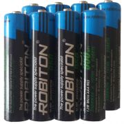 "Комплект (8 шт. ""ААA"") аккумуляторов с низким саморазрядом Robiton ready to use 950 mAh"