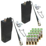 Комплект туриста #2xTourist-6: две FM СиБи рации Tourist-6 с батареями alkaline
